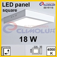 LED panel SN 18W, 4000K, VK, surface-monted, square