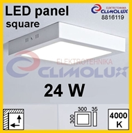 LED panel SN 24W, 4000K, VK, surface-monted, square