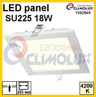 LED panel SU225 18W, 4200K, Flush mounting, square HE