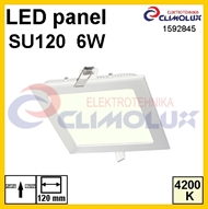 LED panel SU120  6W, 4200K, Flush mounting, square HE