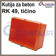 Flush mounted connetion box RK49 for concrete installation without cover