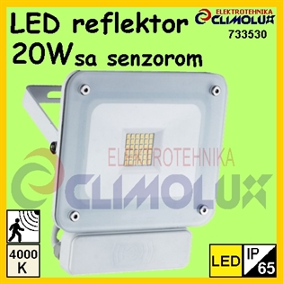 LED reflektor sa senzorom  20W ,4000K ,IP65 MV