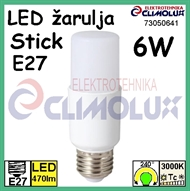 LED Lampe E27 STICK  6W, 3000K, TG