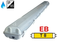 Waterproff luminaire IP65 for T8 fluo. tubes 2x58W, electronic ballast
