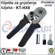 Crimping pliers for end sleeves KT-HX6 -HEXA- 0,25-6 mm