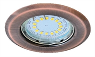 Recessed downlight for spotlamps, URT-16 matted copper