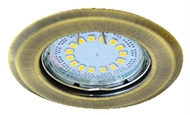 Recessed downlight for spotlamps, URT-16 matted-gold