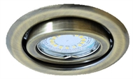 Recessed downlight movably for spotlamps, URT-16 matted-gold 30°