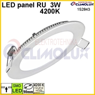 LED panel okrugli RU  3W, 4200K, ugradni, SL3