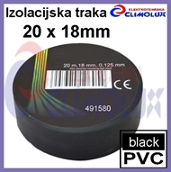 PVC electrical insulating tape 20mx18mm , black