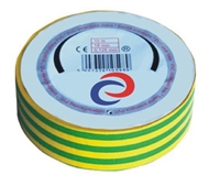 PVC electrical insulating tape 20mx18mm , green-yellow