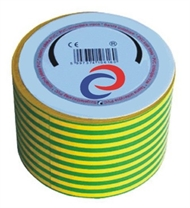 PVC electrical insulating tape 20mx50mm , green-yellow