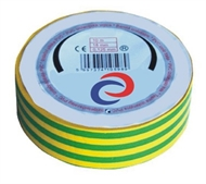 PVC electrical insulating tape 10mx15mm , green-yellow