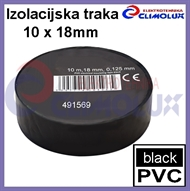 PVC electrical insulating tape 10mx18mm , black
