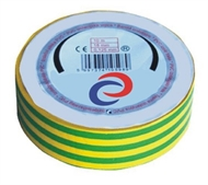 PVC electrical insulating tape 10mx18mm , green-yellow