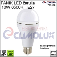 LED BULB EMERGENCY E27 10W 6500K 3h with integrated battery