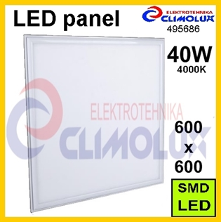 LED panel  600x600, 40W/4000K bijeli