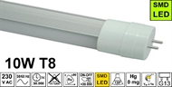 LED tube light T8 10W 6200K frosted, 600mm
