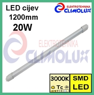 LED Lichtröhre T8 20W 3000K  matt, 1200mm