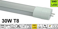 LED Lichtröhre T8 30W 6200K  matt, 1500mm