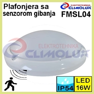 Protected LED interior wall luminare with motion sensor FMSL04 16W IP54
