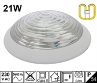 Protected wall luminaire KV-2D 21W IP54