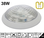 Protected wall luminaire KV-2D 38W IP54